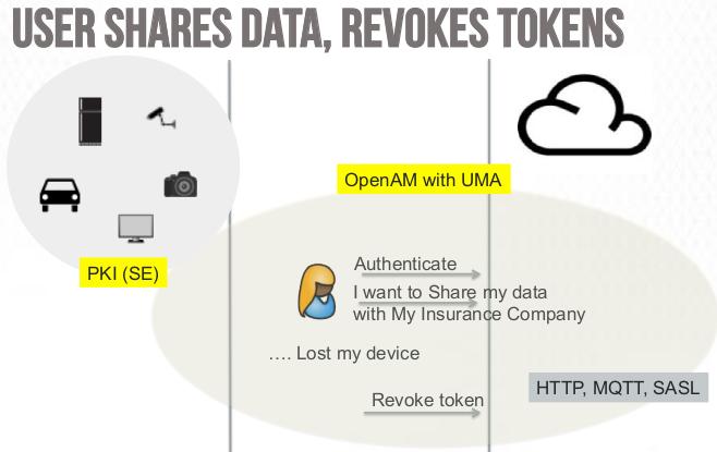 User shares data, revokes tokens