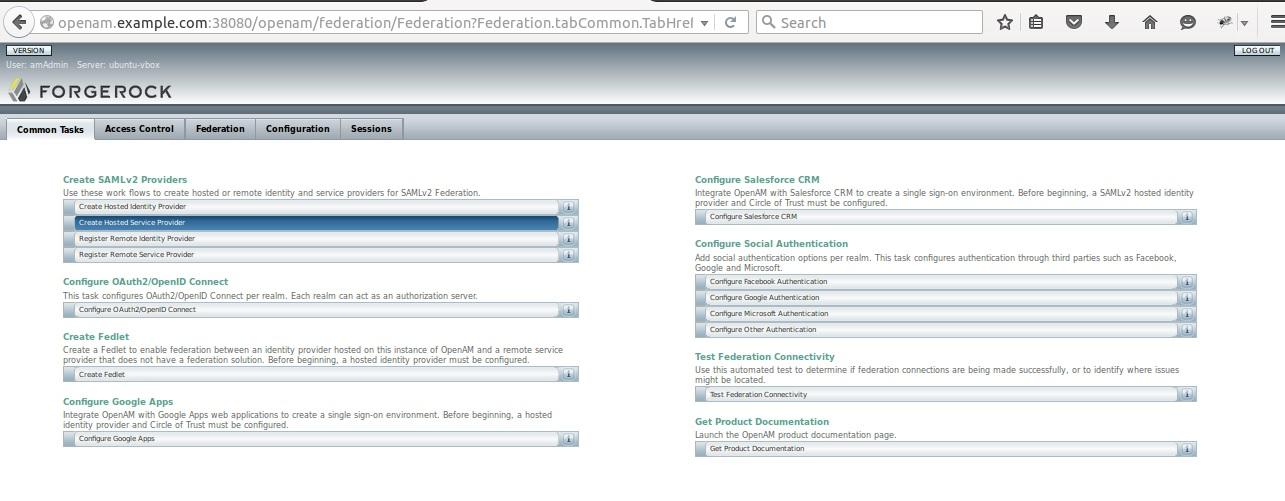 OpenAM Saml configuration sample - JANUA
