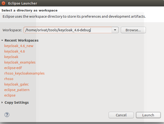 Using Eclipse to debug Keycloak SPIs