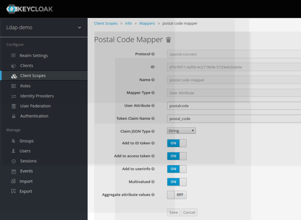 Using Client Scope with RedHat SSO Keycloak - JANUA