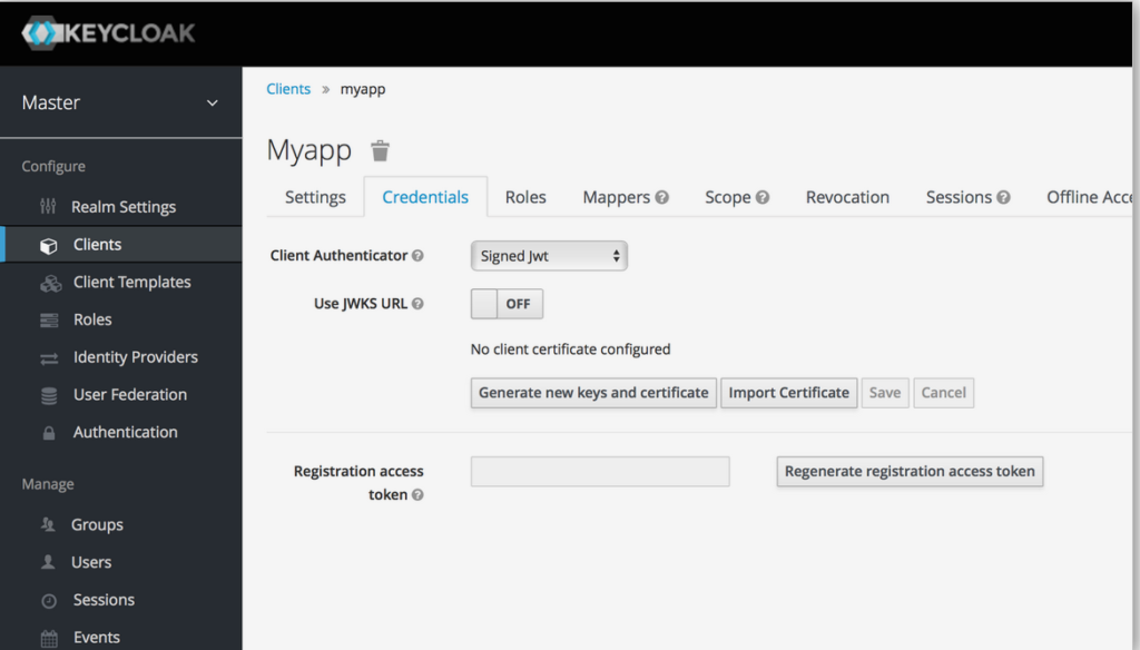 client Authenticator security with Keycloak